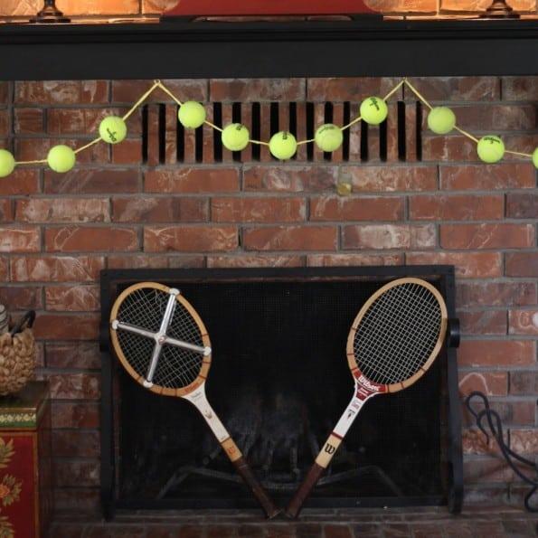 Tennis ball garland