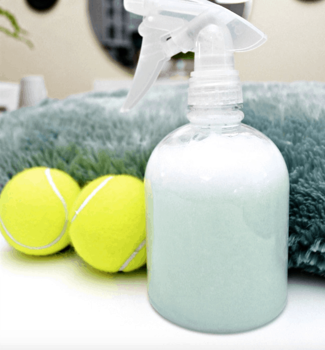 Tennis ball scented dryer balls