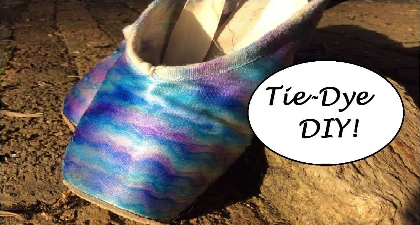 Tie-dyed point shoes