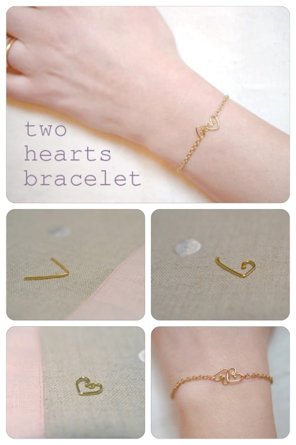 Two hearts intertwined bracelet