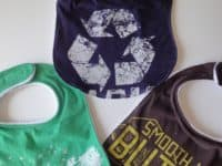 Ucycled t shirt baby bibs 200x150 A Fashion Makeover: 15 Cool Ways to Upcycle Old T Shirts