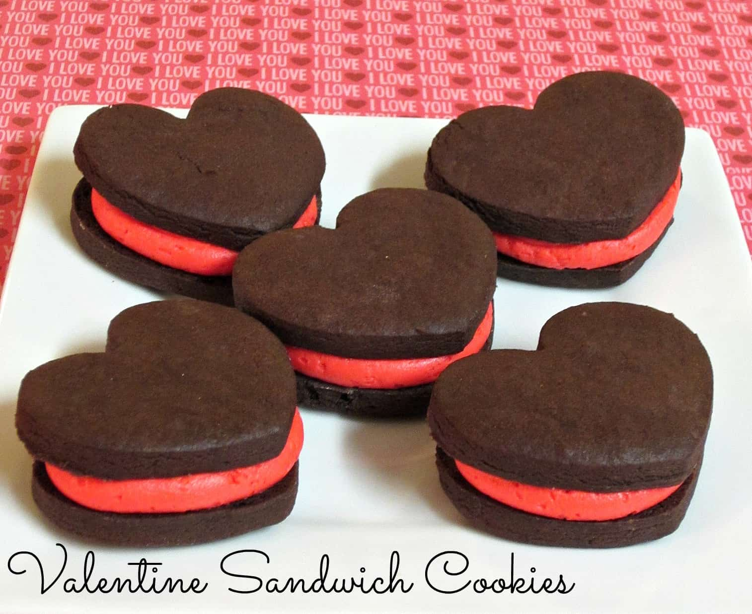 Valentine sandwich cookies Delicious Valentine's Day Cookie Recipes