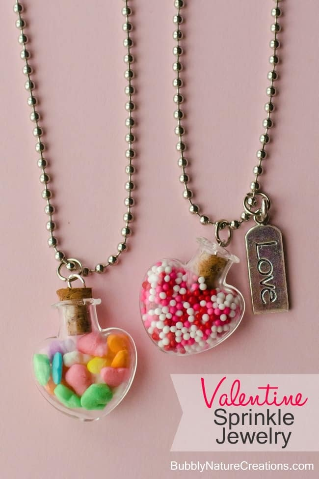 Valentine sprinkles necklaces