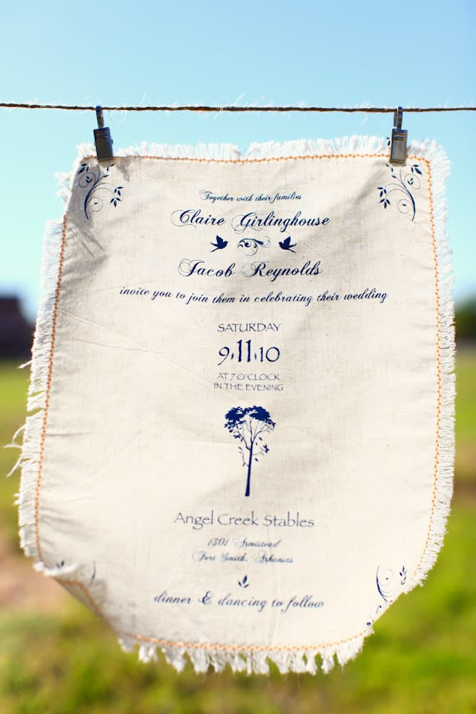 Vintage handkerchief with a frayed edge