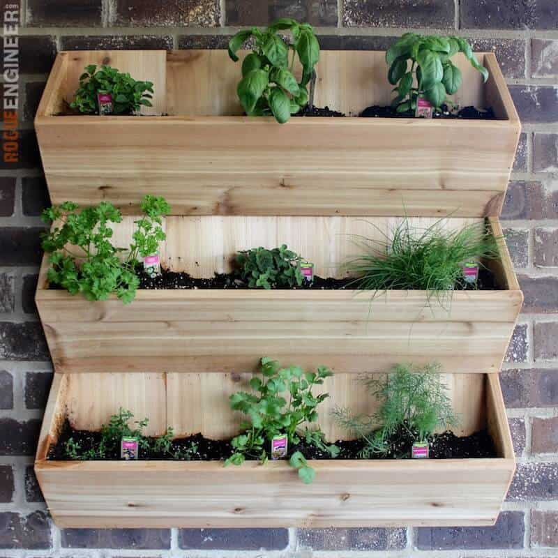 Wall Wooden Planter