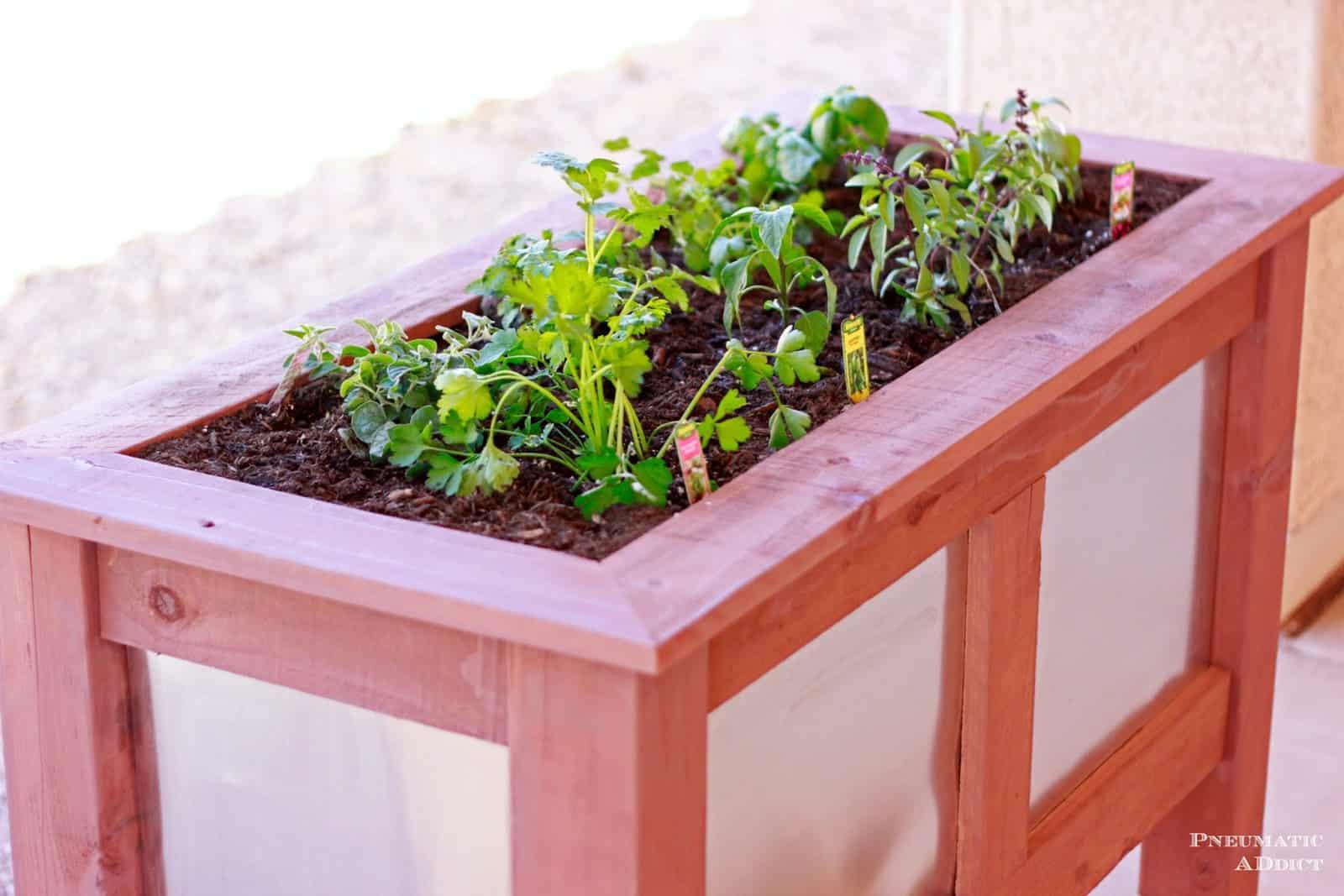 Wood and metal planter box
