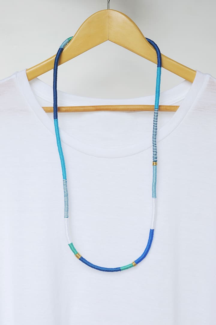 Wrapped rope necklace