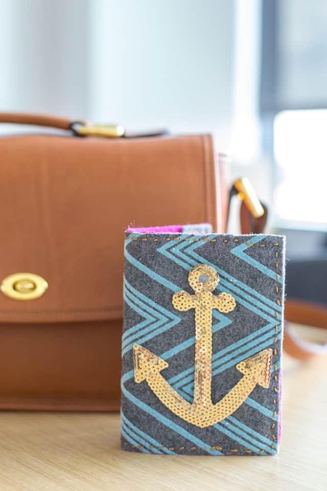 Anchor passport holder