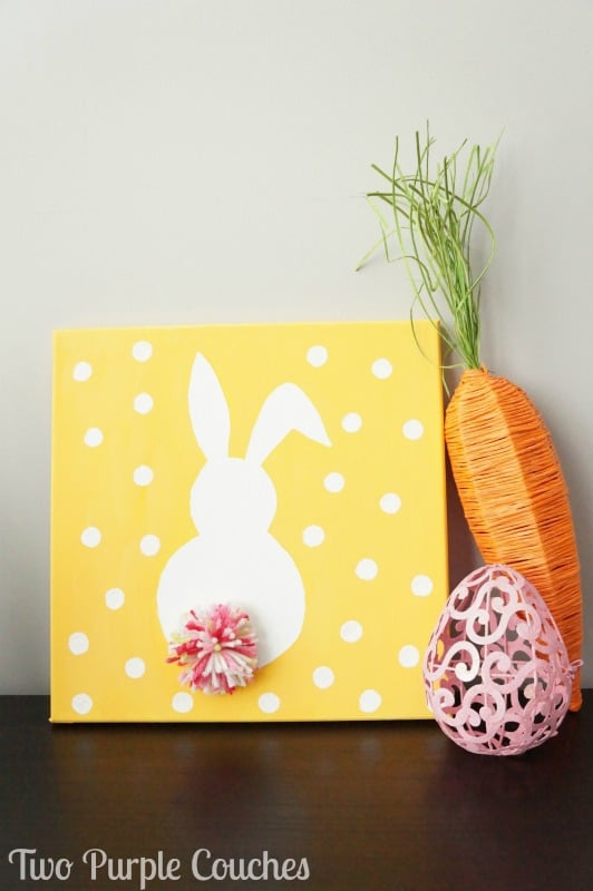 Bunny canvas art