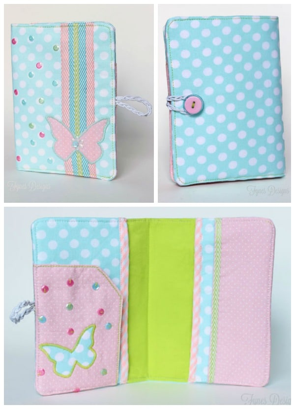 Butterfly passport holder