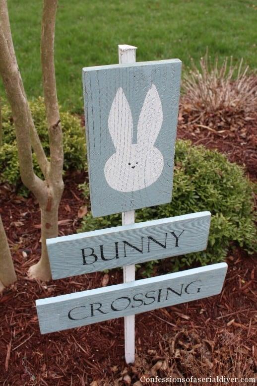 Easter backyard sign
