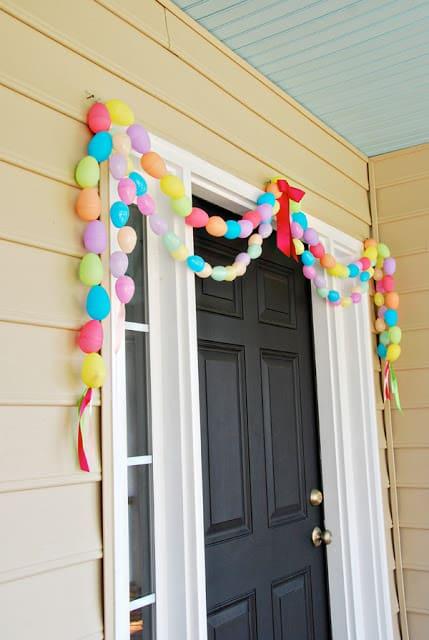 Easter egg door garland