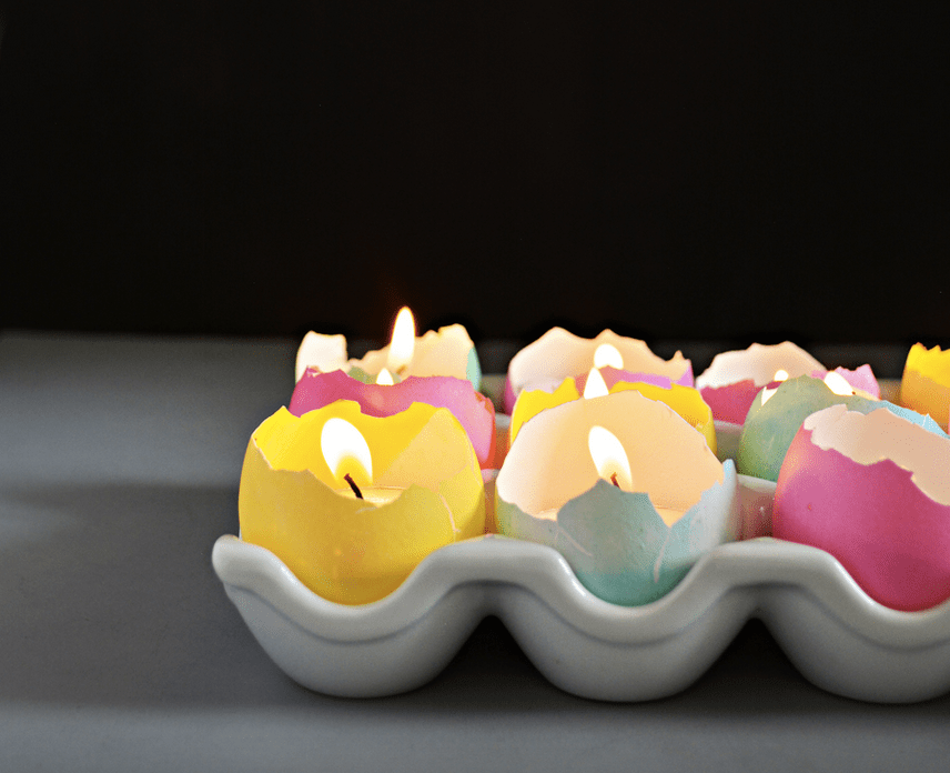 Eggshell candle centerpiece