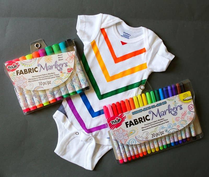 Fabric marker onesie