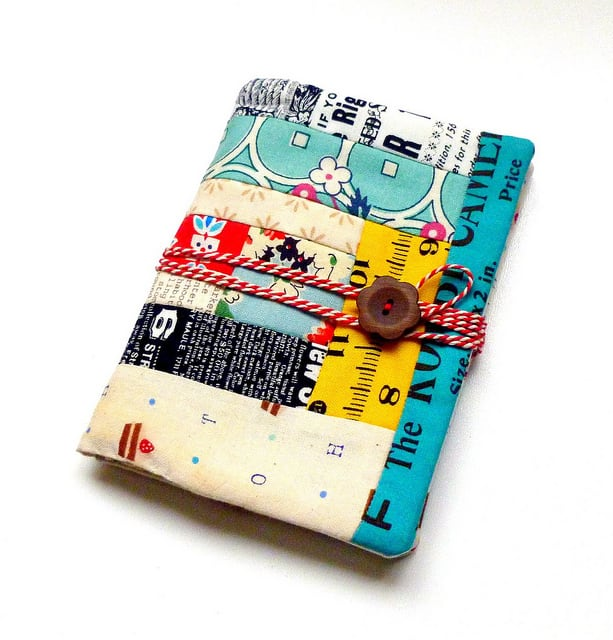 Fabric scrap passport holder