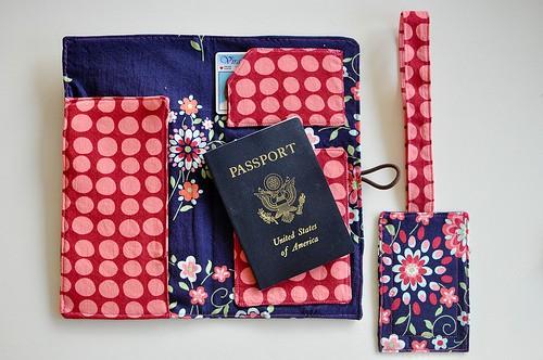 Floral passport holder