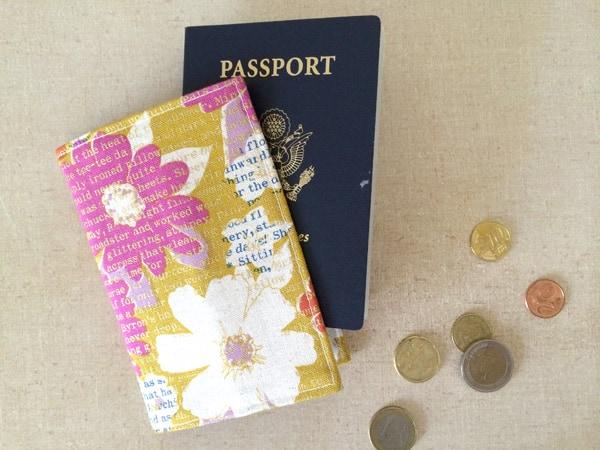 Girly passport holder