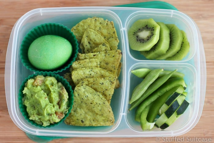 Green themed snack plate