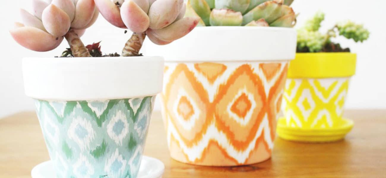 Planting with Style: DIY Painted Terra Cotta Pots