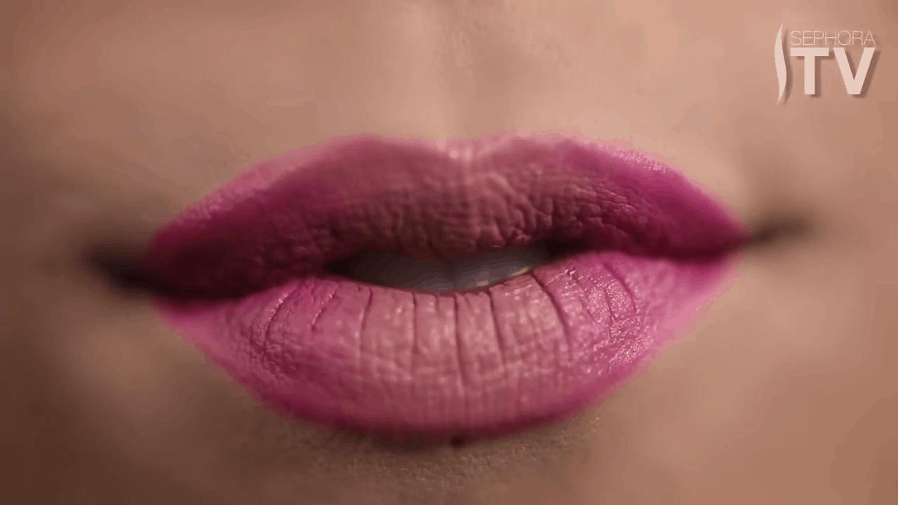 Kat Von D's pink ombre lips