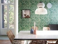 Leafy green wall papered statement wall 200x150 15 Fun Tips for Decorating Your Home with Green