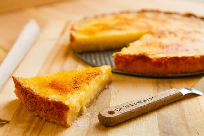 Lemon brulee tart