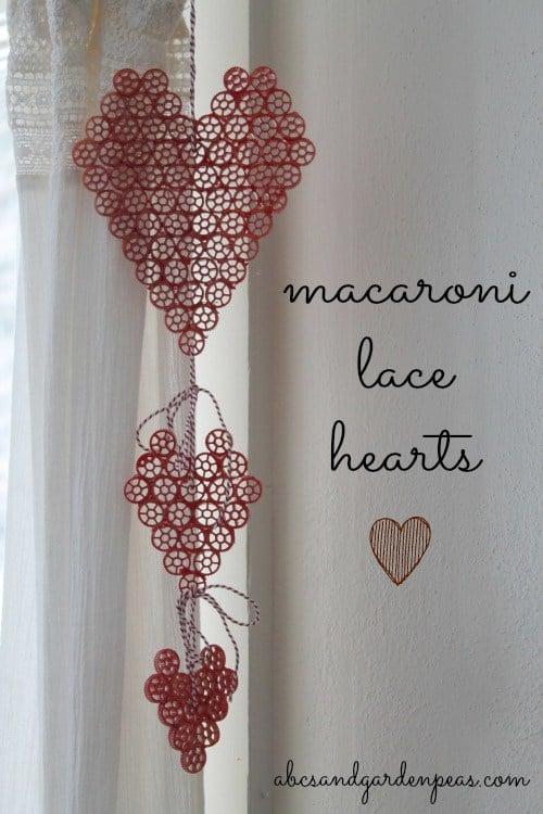 Macaroni lace hearts