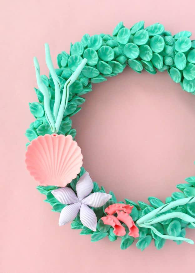 Macaroni mermaid wreath