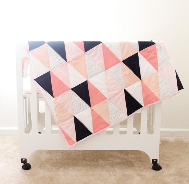 Modern triangle quilt