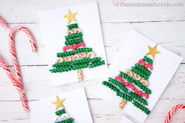 Pasta Christmas trees