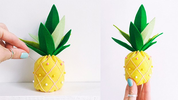 Pineapple pin cushion