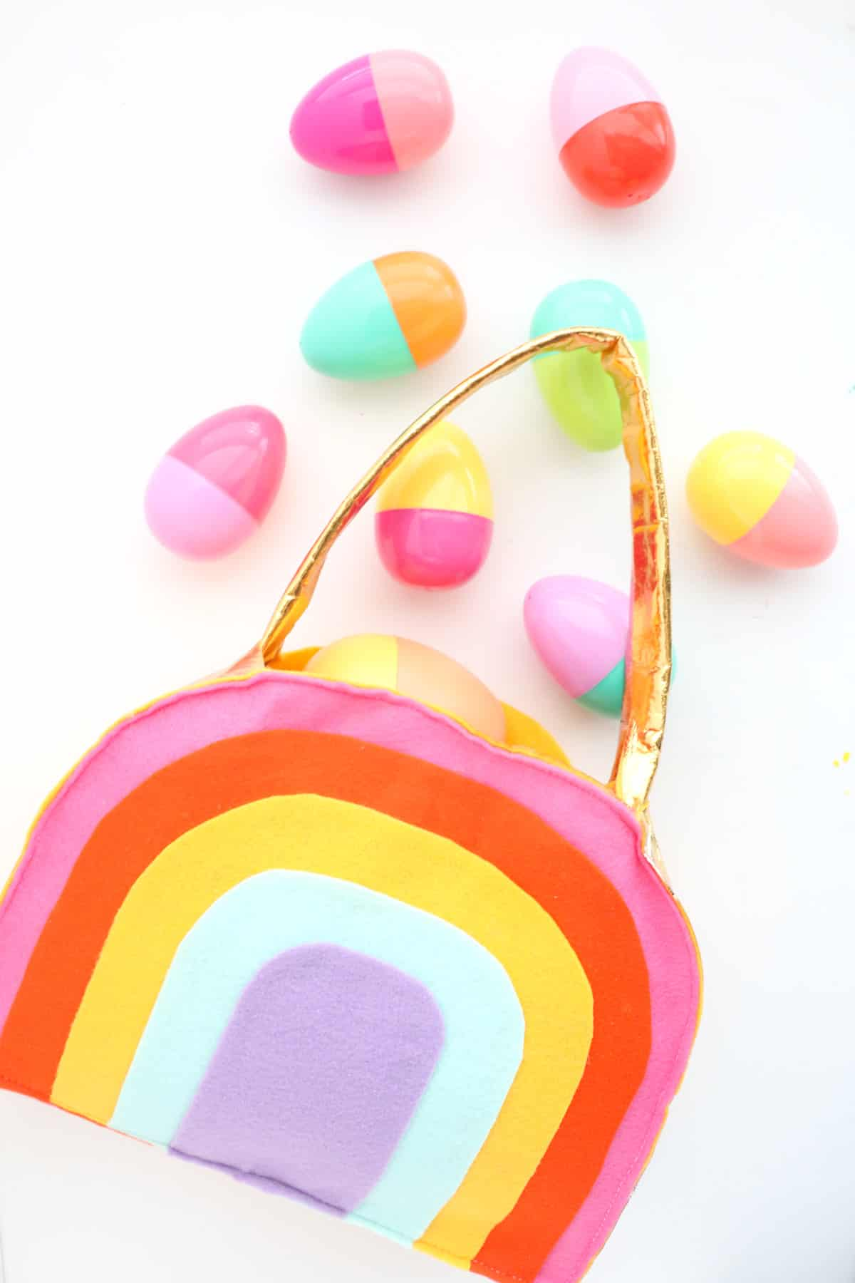 Rainbow Easter basket
