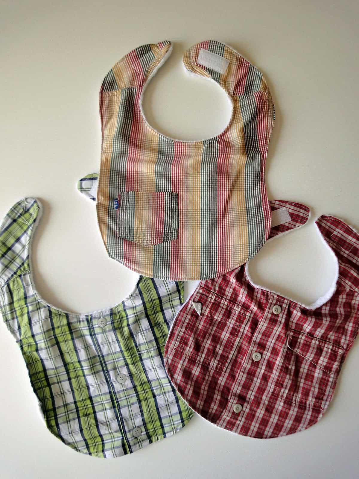 Repurposed shirt bibs