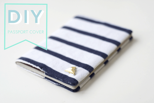 Striped passport holder