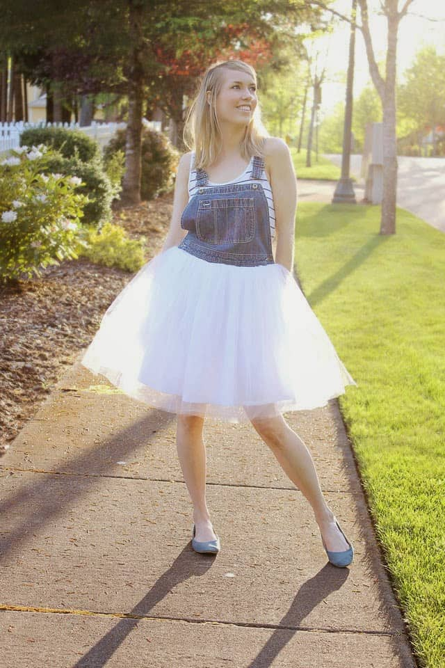 Tulle overalls