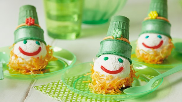 Upside down leprechaun ice cream cones