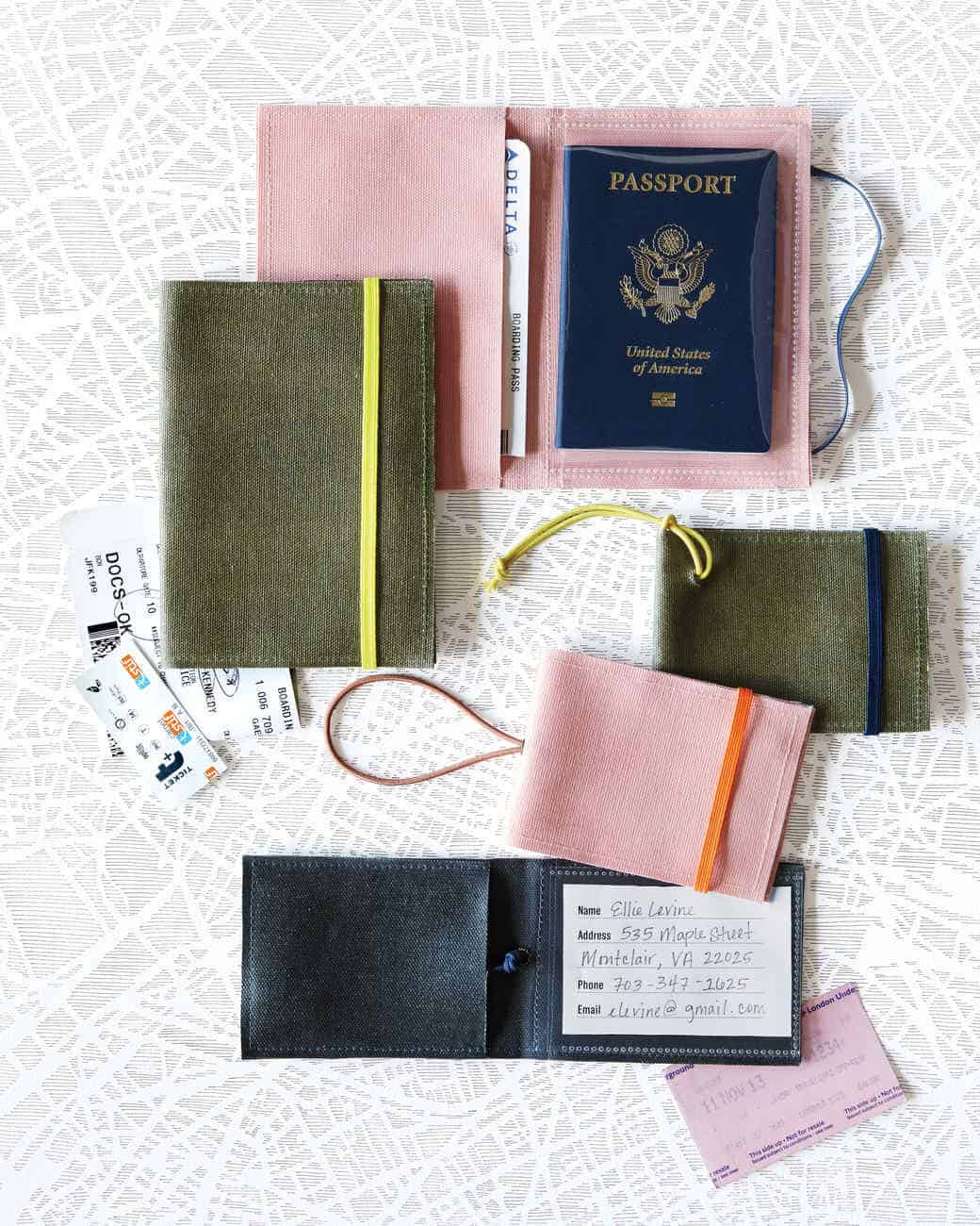 Vintage passport holders