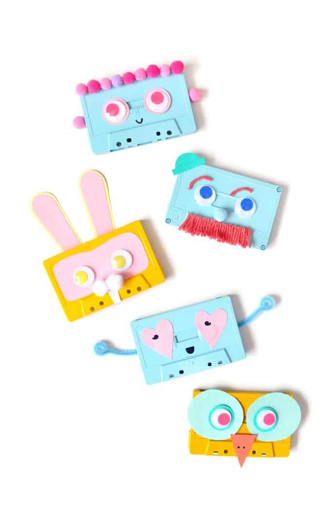 Cassette tape faces