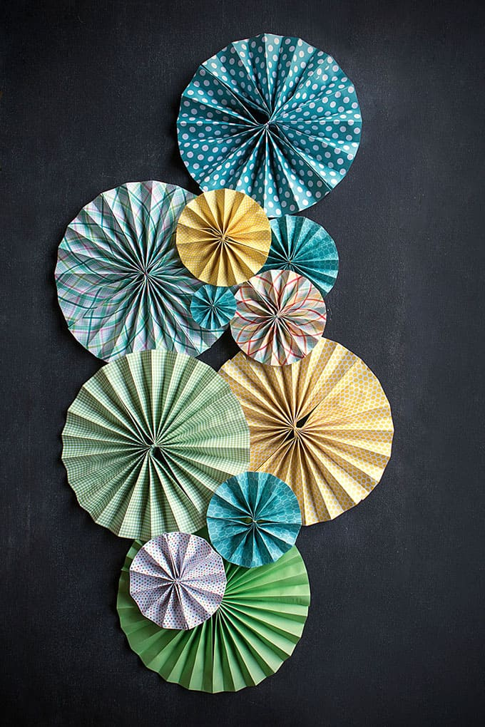 Decorative paper fans