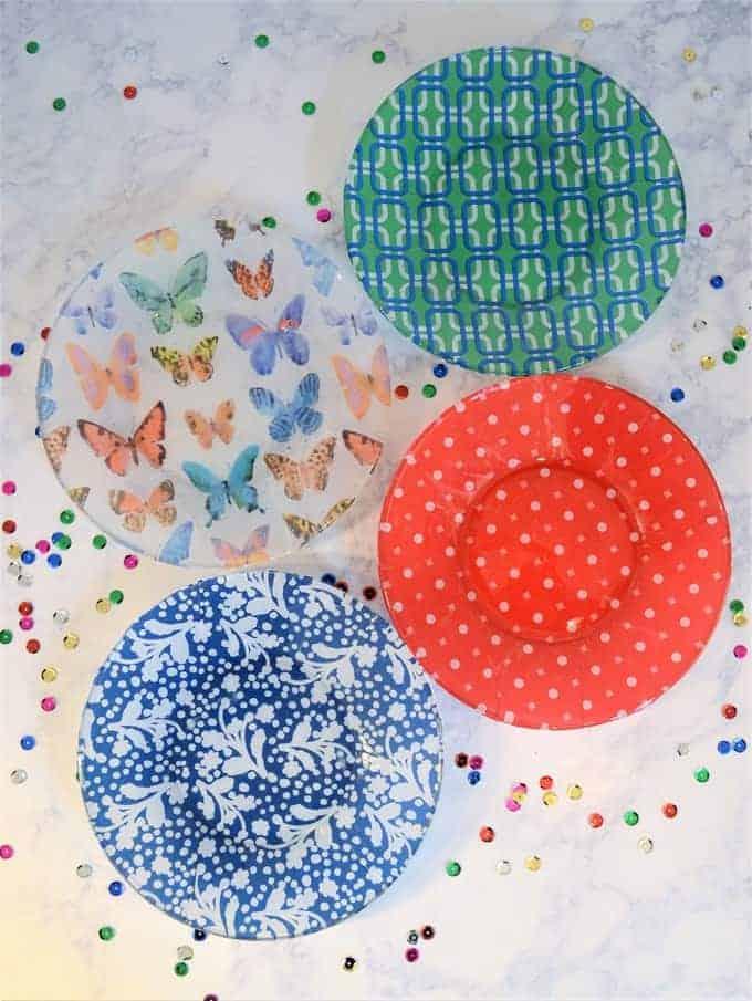 Decoupage plates