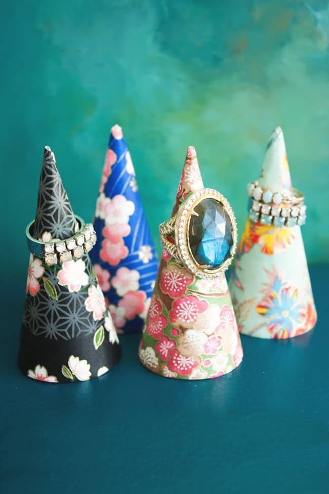 Decoupage ring cones