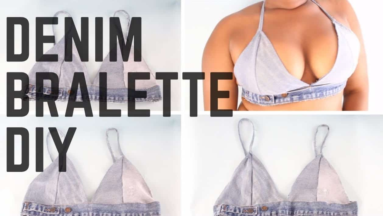 Denim bralette