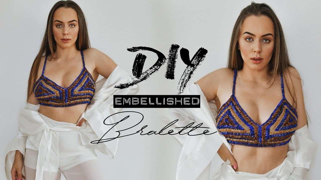 Embellished bralette