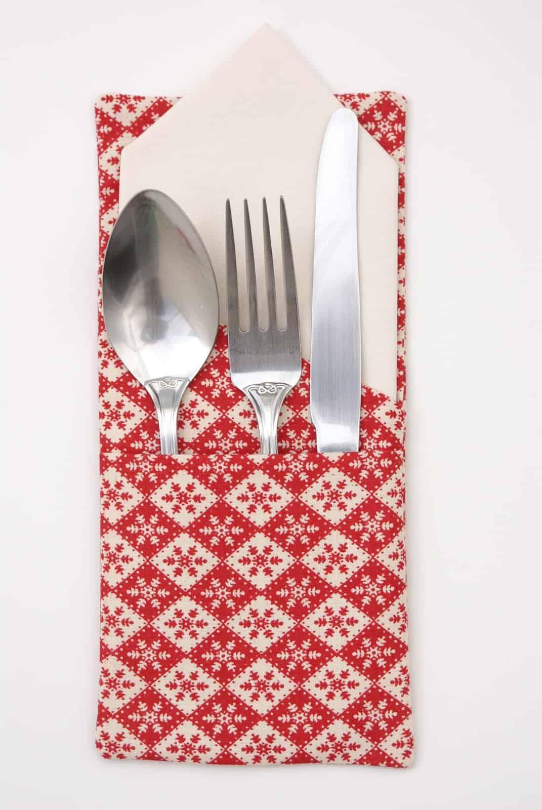 Festive cutlery holder