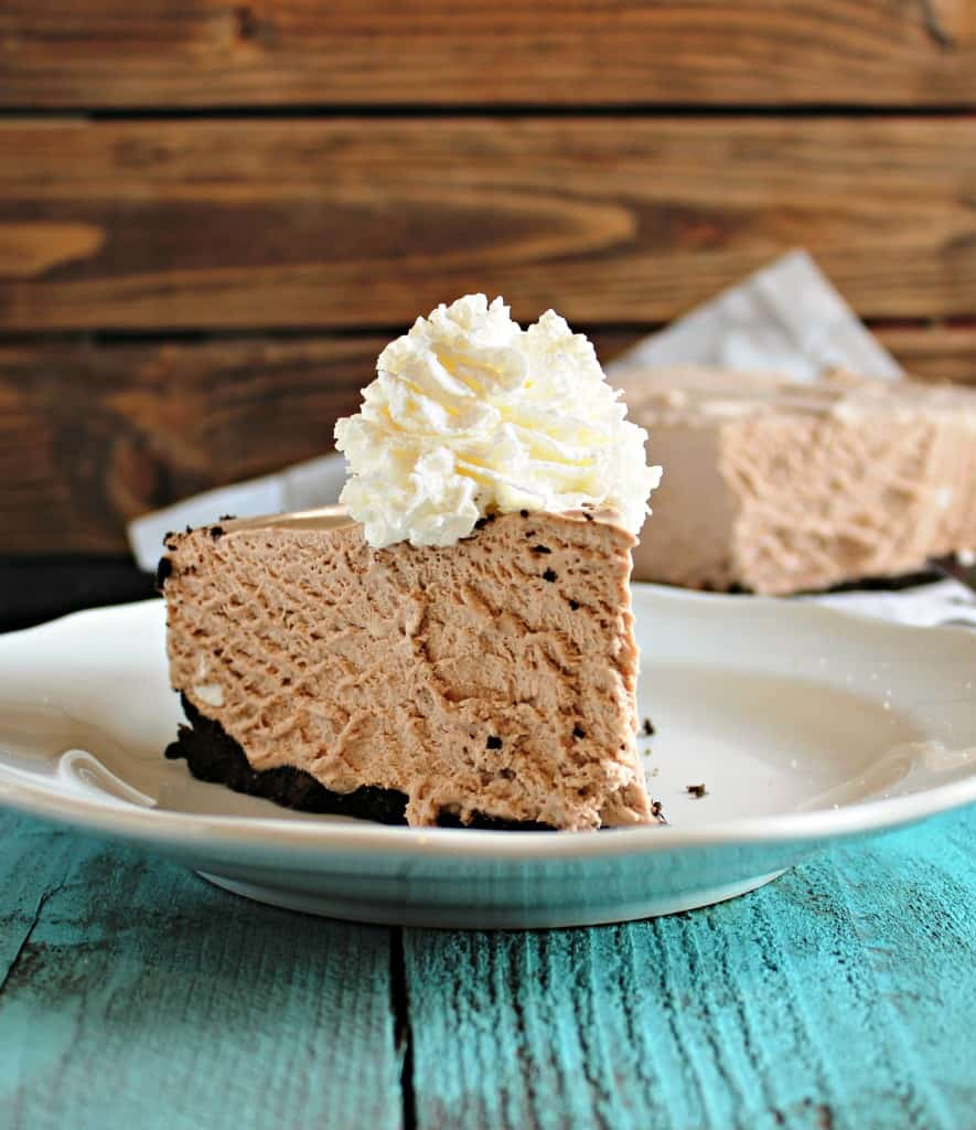 Frozen chocolate cheesecake