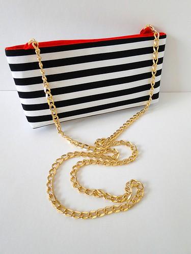 Gold chain cross-body bag