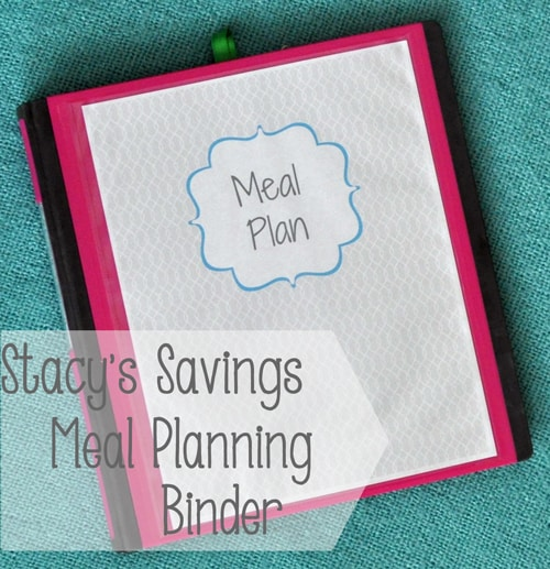 Meal plan binder