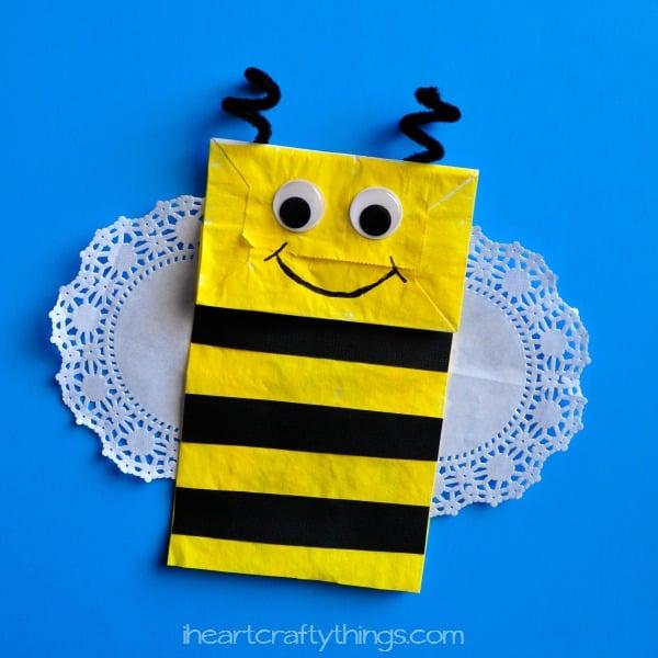 Paper bag bee
