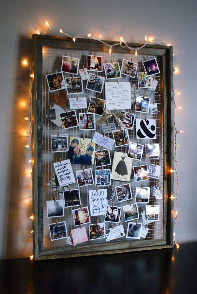 Picture frame mood board