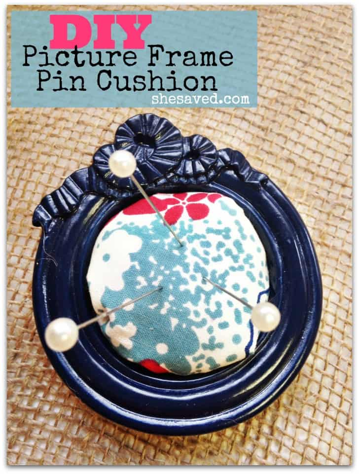 Picture frame pin cushion